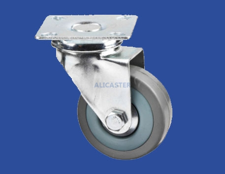 12  light duty gray rubber caster-12-2020-3114