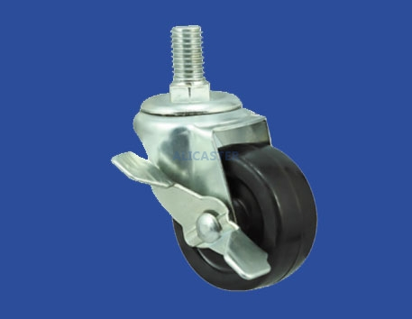 15 Light duty PP/Rubber casters-15-1551-3311-SLB1